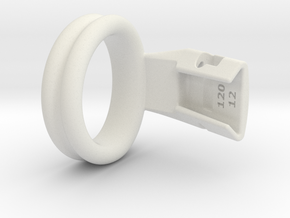Q4e double ring L 38.2mm in White Premium Versatile Plastic