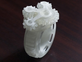 Equator Gear Ring in Smooth Fine Detail Plastic