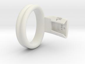 Q4e double ring M 47.7mm in White Premium Versatile Plastic