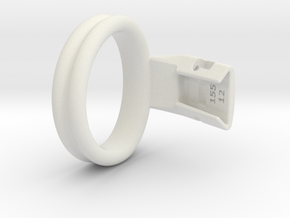 Q4e double ring L 49.3mm in White Premium Versatile Plastic