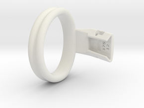 Q4e double ring L 55.7mm in White Premium Versatile Plastic