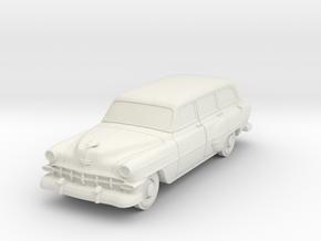 1954 Chevy Wagon 210 in White Natural Versatile Plastic