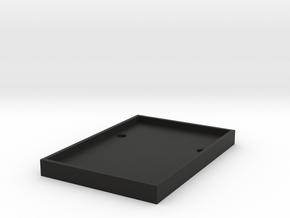 CRC1003 Axial SCX10 II Lipo volt meter mount in Black Natural Versatile Plastic