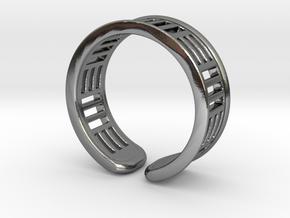 TripleBar ring in Polished Silver