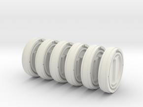 Steel Handed Warriors Tokens 25,8mm roman in White Natural Versatile Plastic