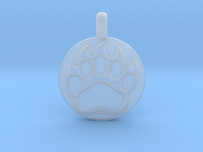 BEAR PAWN Animal Totem Jewelry pendant  in Smooth Fine Detail Plastic