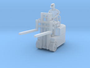Fork lift w/ Figure 1/72 in Smooth Fine Detail Plastic