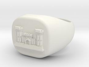 combat_engineer ring size 11-5 in White Natural Versatile Plastic