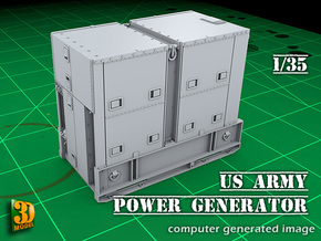 US Army Power Generator in Smooth Fine Detail Plastic