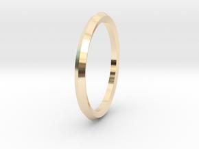 Penta Ring - An unconventional Wedding Ring in 14K Yellow Gold: Medium