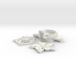 Dronecoria Seed Shutter in White Natural Versatile Plastic