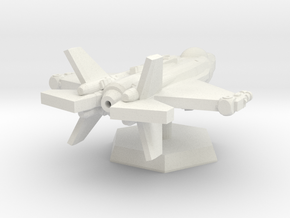 Space Fighter in White Natural Versatile Plastic: Extra Small