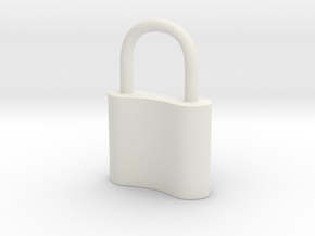Cosplay Charm - Small Padlock in White Natural Versatile Plastic