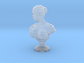 Girl Antique Bust in Smoothest Fine Detail Plastic