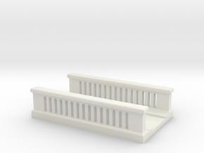 Concrete Bridge 1/43 in White Natural Versatile Plastic