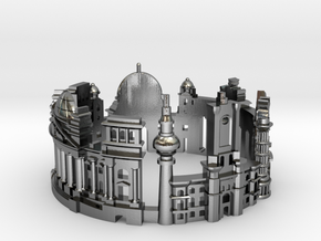 Berlin - Skyline Cityscape Ring in Polished Silver: 6 / 51.5