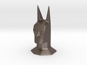 Batman head bust sculpture in Polished Bronzed Silver Steel