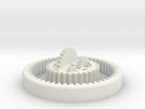 Planetary Gear Card Holder in White Natural Versatile Plastic