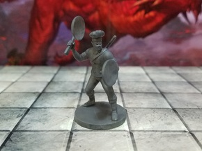 Half Orc Chef Fighter in Smooth Fine Detail Plastic
