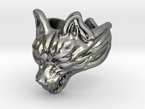 "Fox (Oinari san) ""orb"" Ring in Polished Silver: 10 / 61.5"