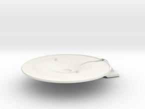 1/1000 USS Lynx Saucer Bottom in White Natural Versatile Plastic
