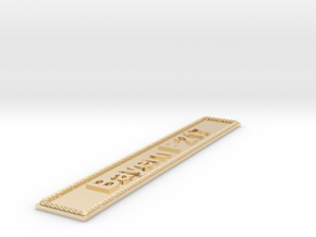 Nameplate Bayern F 217 in 14k Gold Plated Brass