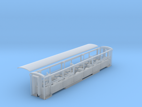 Welsh Highland Rly Semi open coach NO.2021/2 refur in Smooth Fine Detail Plastic