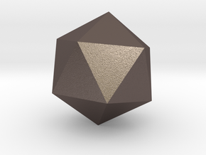 Icosahedron in Polished Bronzed-Silver Steel