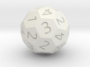d4 soccer-ball (football) in White Natural Versatile Plastic