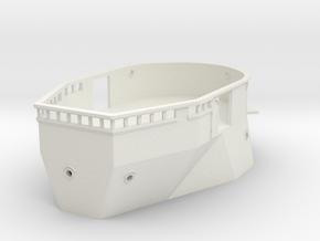 1/100 IJN Yamato Bridge Structure Part 4 in White Natural Versatile Plastic