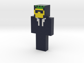 pinapple-in-black | Minecraft toy in Natural Full Color Sandstone