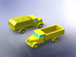 German KHD S3000 Trucks 1/144 in Smooth Fine Detail Plastic