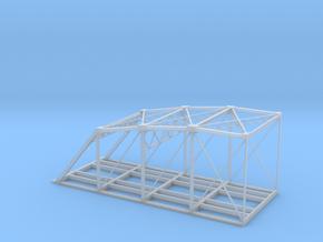 'N Scale' - Double Wide Bridge - Half in Smooth Fine Detail Plastic