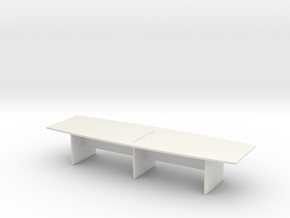 Modern Office Desk 1/43 in White Natural Versatile Plastic