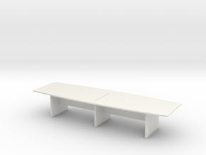 Modern Office Desk 1/43 in White Natural Versatile Plastic
