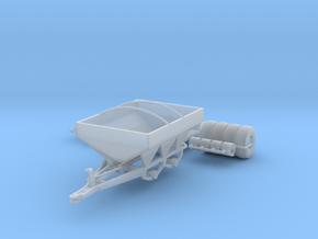 White 6-Ton Dry Fertilizer Spreader w/ Tarp Option in Smooth Fine Detail Plastic