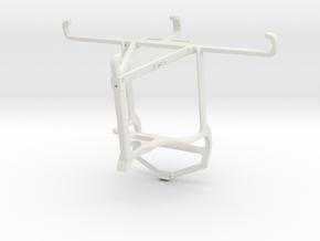 Controller mount for PS4 & Motorola Moto E6 Play - in White Natural Versatile Plastic