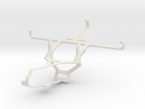 Controller mount for Steam & Motorola Moto E6 Play in White Natural Versatile Plastic