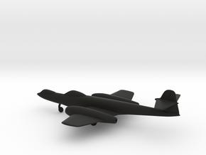 Gloster Meteor F8 Prone Pilot in Black Natural Versatile Plastic: 1:160 - N