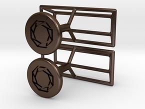 Cufflinks Minimalistic in Polished Bronze Steel