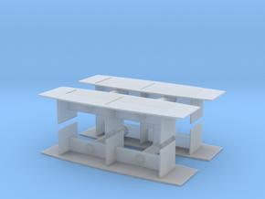 Modern Office Desk (x4) 1/144 in Smooth Fine Detail Plastic