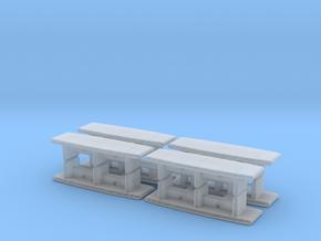 Modern Office Desk (x8) 1/285 in Smooth Fine Detail Plastic