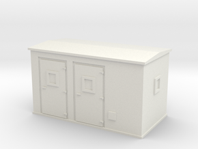 Transformer substation 1/72 in White Natural Versatile Plastic