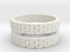 Sandbag Ring (x2) 1/100 in White Natural Versatile Plastic