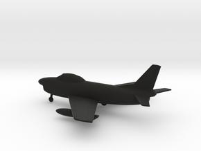 North American F-86D Sabre in Black Natural Versatile Plastic: 1:160 - N