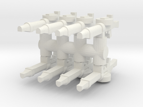 Lewis Gun (x8) 1/87 in White Natural Versatile Plastic