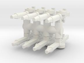 Lewis Gun (x8) 1/76 in White Natural Versatile Plastic