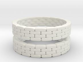 Sandbag Ring (x2) 1/144 in White Natural Versatile Plastic
