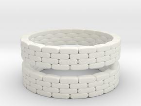 Sandbag Ring (x2) 1/160 in White Natural Versatile Plastic