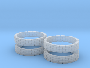 Sandbag Ring (x4) 1/220 in Smooth Fine Detail Plastic